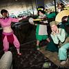 Ty Lee, Toph Beifong, Cabbage Merchant, and Suki