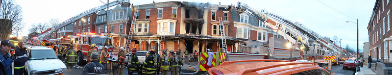 "Monday, January 20, 2013 - Harrisburg, PA - An interesting image perspective of a morning multiple alarm fire that damaged 5 homes and displaced 17 residents. The fire was determined to be a case of arson via firebombing.<br /> <br /> Larger image: <a href=""http://www.capitalcityfirephotos.com/Other-1/12014-Harrisburg-PA-N-4th/36159976_DKk2v4#!i=3033015543&k=TQrHrs8&lb=1&s=X2"">http://www.capitalcityfirephotos.com/Other-1/12014-Harrisburg-PA-N-4th/36159976_DKk2v4#!i=3033015543&k=TQrHrs8&lb=1&s=X2</a>"