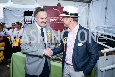 Greg Milone, Pablo Izquierdo. Photo by Alfredo Flores. 139th Running of the Preakness. Pimlico Race Course. May 17, 2014.