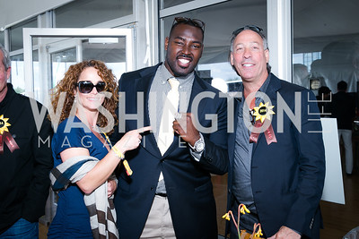 Aimee Brisson, Arthur Jones, Lee Einsidler. Photo by Alfredo Flores. 139th Running of the Preakness. Pimlico Race Course. May 17, 2014.