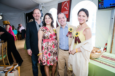 Bill Tomlyanovila, Erika Lizardo, Jose Raul Perales, Belen Rojas. Photo by Alfredo Flores. 139th Running of the Preakness. Pimlico Race Course. May 17, 2014.