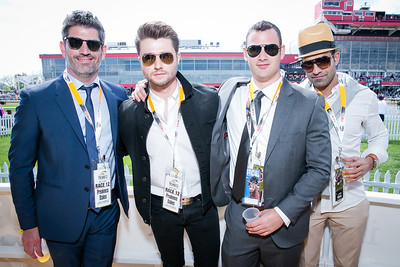 Chris Seldon, Frank Walker, Matthew Hall, Ralf Madi. Photo by Alfredo Flores. 139th Running of the Preakness. Pimlico Race Course. May 17, 2014.