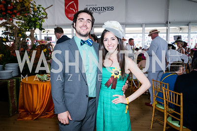 Gabe Miranda, Anissa Adas. Photo by Alfredo Flores. 139th Running of the Preakness. Pimlico Race Course. May 17, 2014.