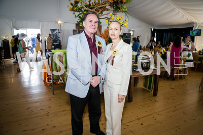 Ambassaor Harold Forsyth, Maria Veronica Sommer De Forsyth. Photo by Alfredo Flores. 139th Running of the Preakness. Pimlico Race Course. May 17, 2014.