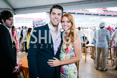 Justin Tucker, Amanda Bass. Photo by Alfredo Flores. 139th Running of the Preakness. Pimlico Race Course. May 17, 2014.