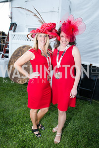 Christine A. Moore, Kimberly L. DiStefano. Photo by Alfredo Flores. 139th Running of the Preakness. Pimlico Race Course. May 17, 2014.