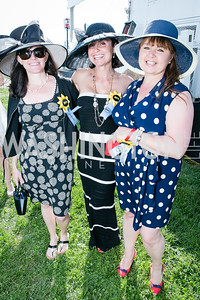 Kate Flemming, Jenny Glazier, Melissa Barnes. Photo by Alfredo Flores. 139th Running of the Preakness. Pimlico Race Course. May 17, 2014.