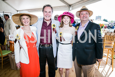 Kathleen Kennedy Townsend, Ambassador Harold Forsyth, Kerry Kennedy Townsend, Ambassador Luis Villegas. Photo by Alfredo Flores. 139th Running of the Preakness. Pimlico Race Course. May 17, 2014-2