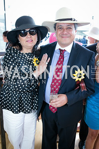 Consuela Jordan, Cesar Jordan. Photo by Alfredo Flores. 139th Running of the Preakness. Pimlico Race Course. May 17, 2014.