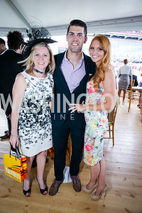 Jacquie Nigh, Justin Tucker, Amanda Bass. Photo by Alfredo Flores. 139th Running of the Preakness. Pimlico Race Course. May 17, 2014.