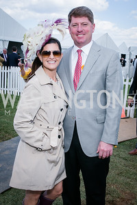 Jennifer Mutwalli, Clinton Glassock. Photo by Alfredo Flores. 139th Running of the Preakness. Pimlico Race Course. May 17, 2014.