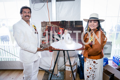 Javier Ocampo Ponce, Fabiola Moran. Photo by Alfredo Flores. 139th Running of the Preakness. Pimlico Race Course. May 17, 2014.