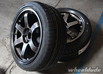 18x9 Rota Grid with 235/40/18 Bridgestone Potenza re760