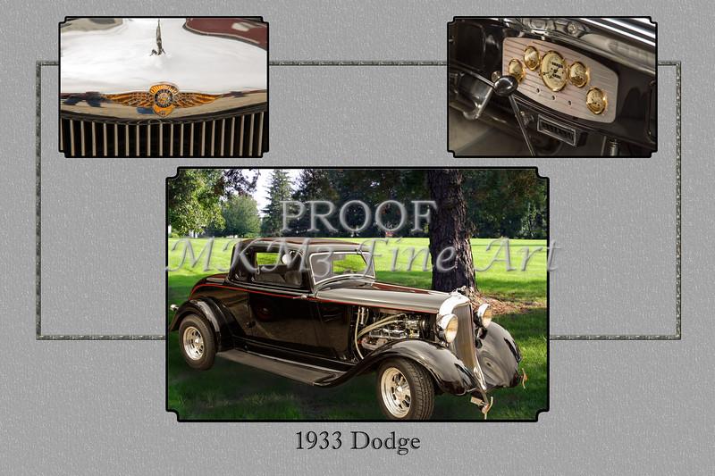 1933 Dodge Vintage Classic Car Automobile Photographs Fine Art Print Collectable Collage 4144.02