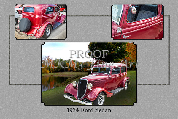 1934 Ford Sedan Antique Vintage Photograph Fine Art Print Collectables 200