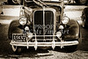 1937 Ford Pickup Truck Classic Car Front End Photograph in Sepia 3310.01