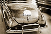1940 Ford Classic car back side and trunk Photograph in sepia 3194.01