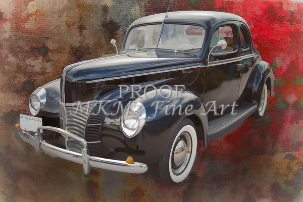 1940 Ford Deluxe photograph of Classic car painting in color 3197.02