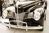 1940 Ford Classic car front front end and grill Photograph in sepia 3193.01