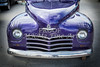 1948 Plymouth Classic Car Front End in Color of Purple 3385.02