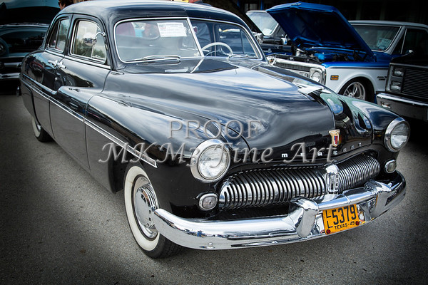 1949 Mercury Classic Car Front and Side in Color 3190.02