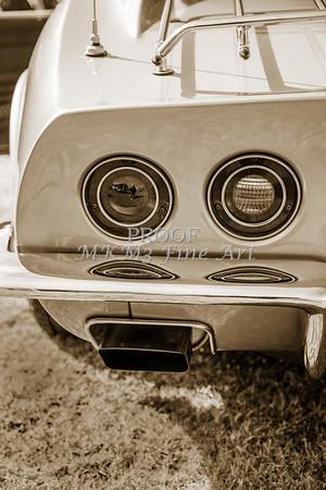 1972 Chevrolet Corvette Stingray Tail Lights Sepia 3033.01