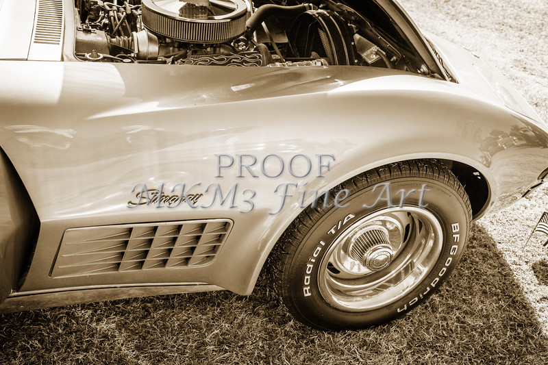 1972 Chevrolet Corvette Stingray Front Fender Sepia 3035.01