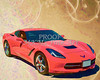 1974 Chevrolet Corvette Painting Print in Gold and Red 3478.02