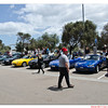 Bob de Bont surveys the MX-5 sxleights at the finish point in Frankston