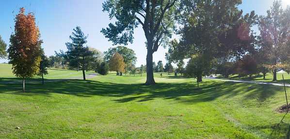 October Day Golf Course Panorama