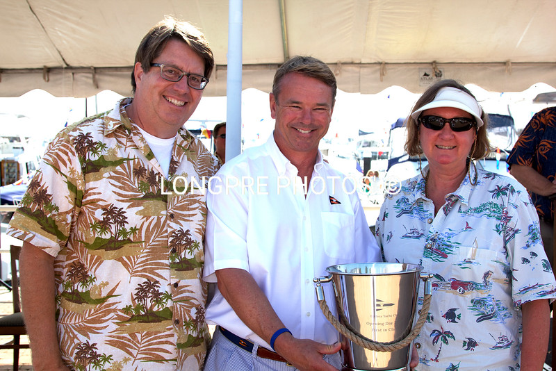 'THE HIPPOCAMPUS'  1st. Place Sail-Cruising class Dan Flynn and Emily Volger