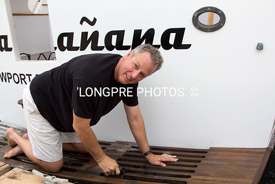 Rob Tyler scrubbing 'HASTA MANANA'   Nice work Rob !