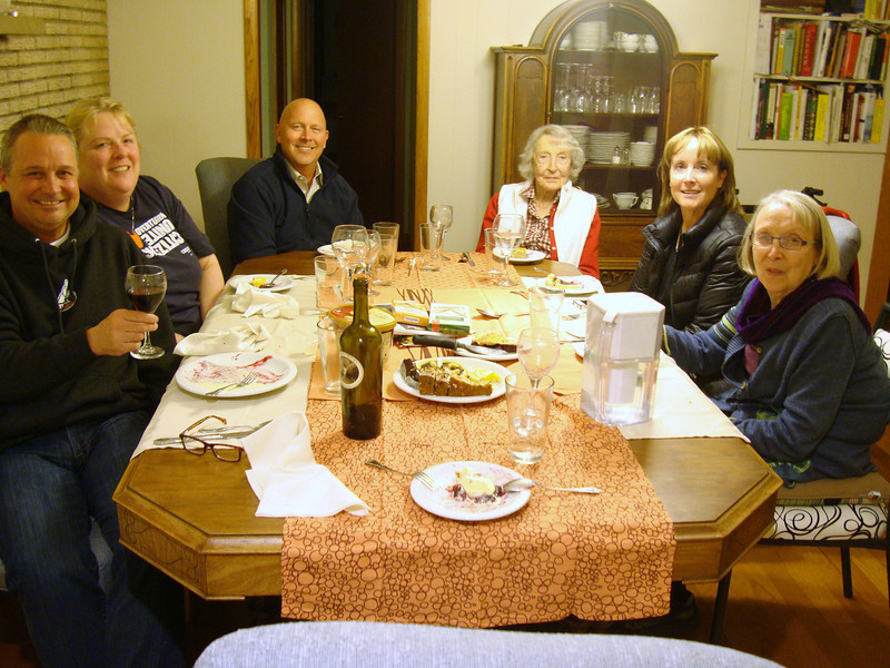 My cousins, Nancy's family, in March: L to R Tommy, Kathleen, Kent, Mom, Karen, Nancy.