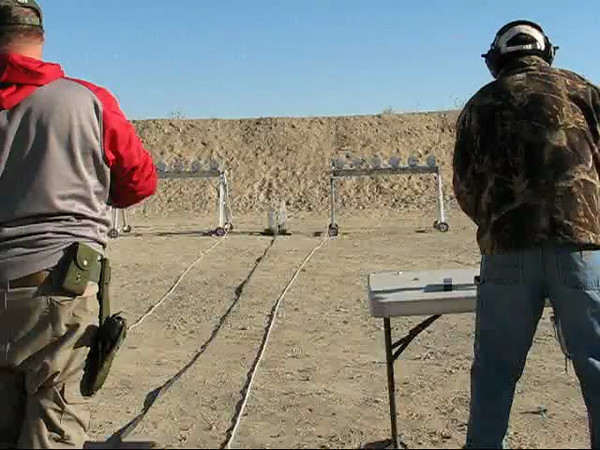 Subgun round:  John Heffern (L) VS Kaen Easton (R winner of round)  It all depended on who cleared the jam first.