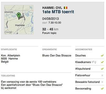 MTB toer - Hamme 04-08-2013