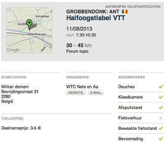 MTB toer - Grobbendonk 11-08-2013