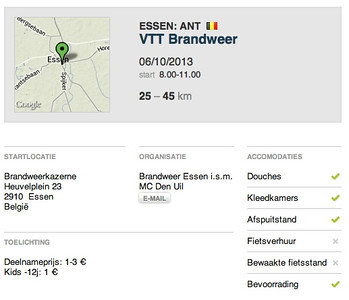 MTB toer - Essen Brandweer 06-10-2013