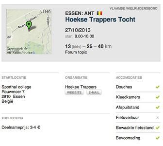 MTB toer - Essen-Hoek Hoekse Trappers 27-10-2013