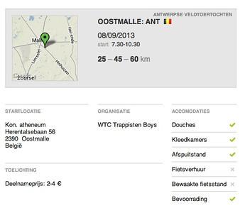 MTB toer - Oostmalle 08-09-2013