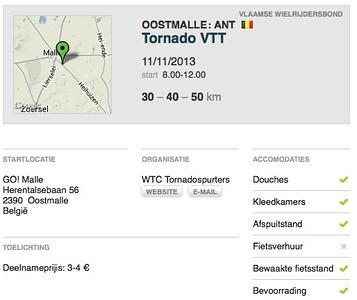 MTB toer - Oostmalle 11-11-2013
