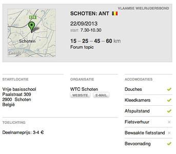 MTB toer - Schoten 22-09-2013