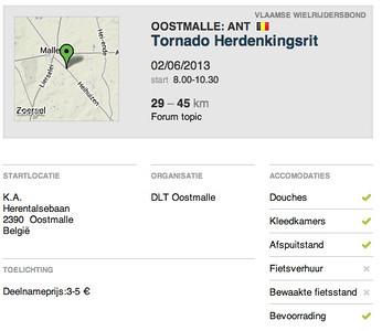 MTB toer - Oostmalle 02-06-2013