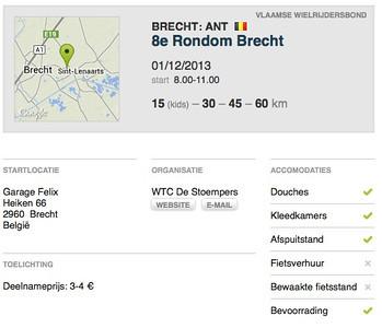 MTB toer - Brecht 01-12-2013