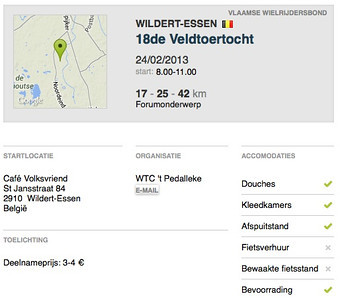 MTB toer - Essen-Wildert 24-02-2013