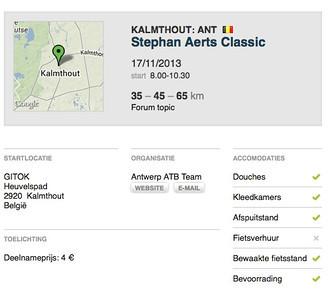 MTB toer - Kalmthout 17-11-2013