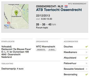 MTB toer - Ossendrecht 22-12-2013