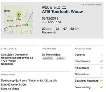 MTB toer - Wouw 08-12-2013