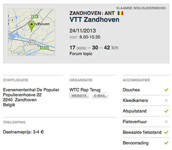 MTB toer - Zandhoven 24-11-2013