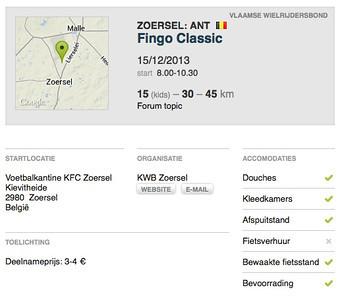 MTB toer - Zoersel 15-12-2013