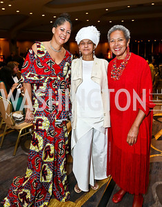 Debbie Mans, Dera Tompkins, Sheila Walker. Photo by Tony Powell. Africare Bishop John T. Walker Memorial Dinner. Hilton Hotel. April 5, 2014
